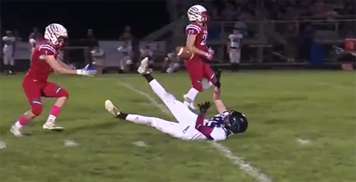 North Mac's Sam Mount Earns SCTop10 Spot After Kick Catch
