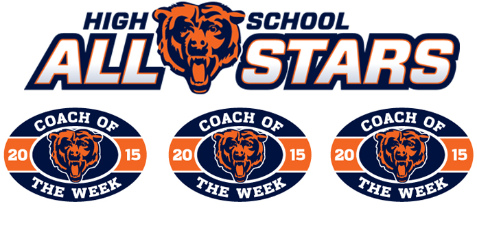 2015 Chicago Bears Weekly High School All-Star Player & Coach of the Week