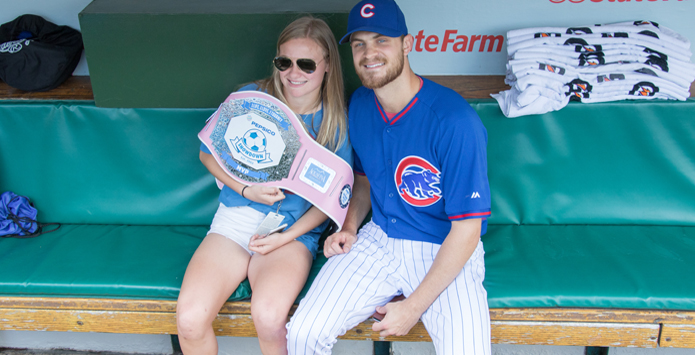 Evanston's Maia Cella Surprised With Presentation of PepsiCo Showdown MVP Soccer Award By Chicago Cubs