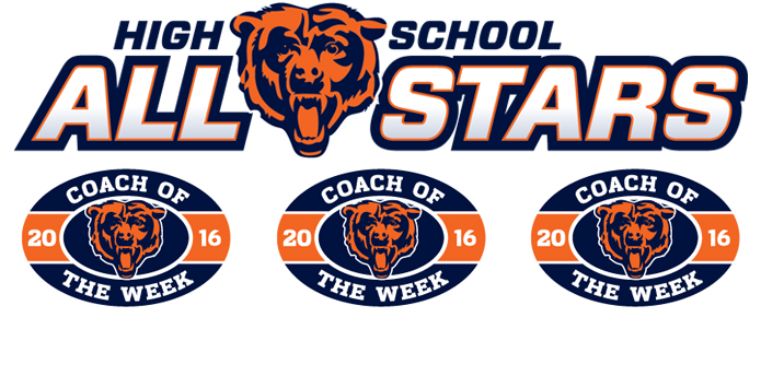 2016 Chicago Bears Weekly High School All-Star Player & Coach of the Week