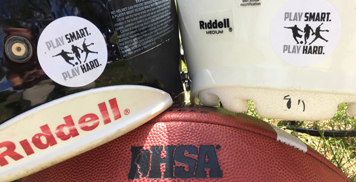 IHSA Football Teams Unite In Name Of Safety With Play Smart. Play Hard. Helmet Decals