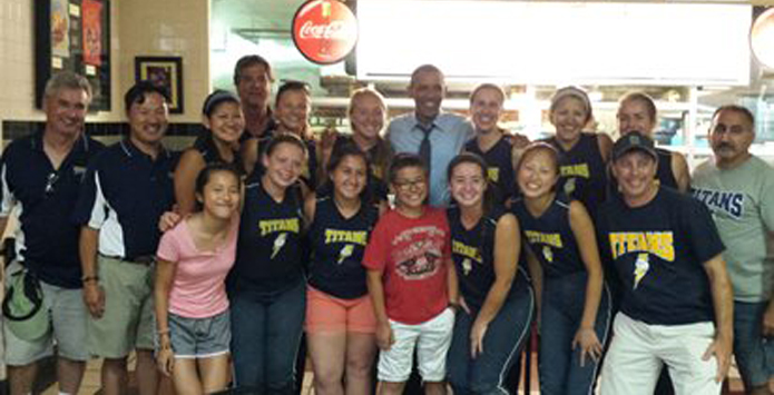 Glenbrook South Softball Players Meet President Obama