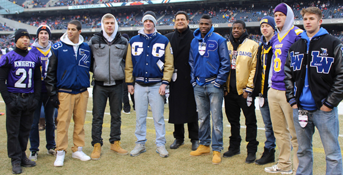 Chicago Bears & Hall of Famer Dan Hampton Honor IHSA Football State Champions & Weekly Honorees