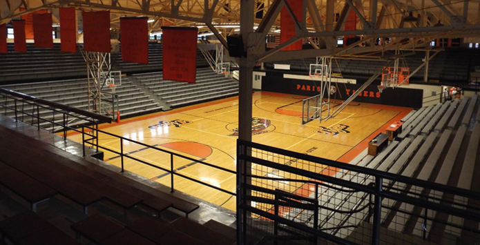 Paris High School's Ernie Eveland Gymnasium