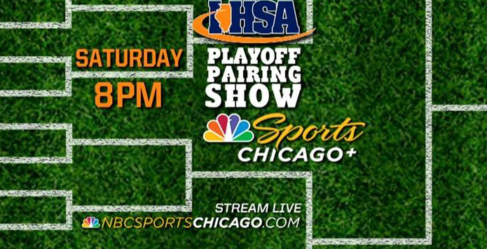 Football Playoff Brackets Revealed Saturday, October 20 on NBC Sports Chicago+ at 8 PM